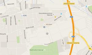 Grüne Soße Lehrpfad auf Google Maps