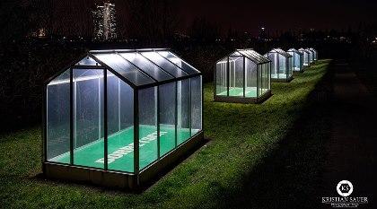 Grüne Soße Denkmal bei Nacht