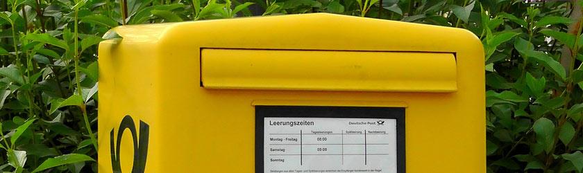 Postkästen in Oberrad